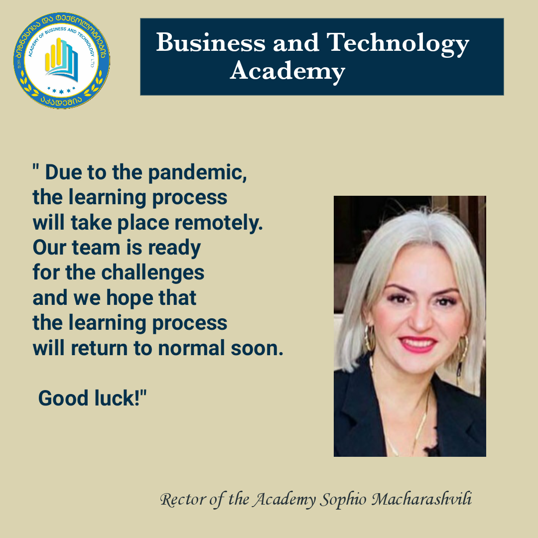 Dear friends, Welcome to the Academy of Business and Technology!