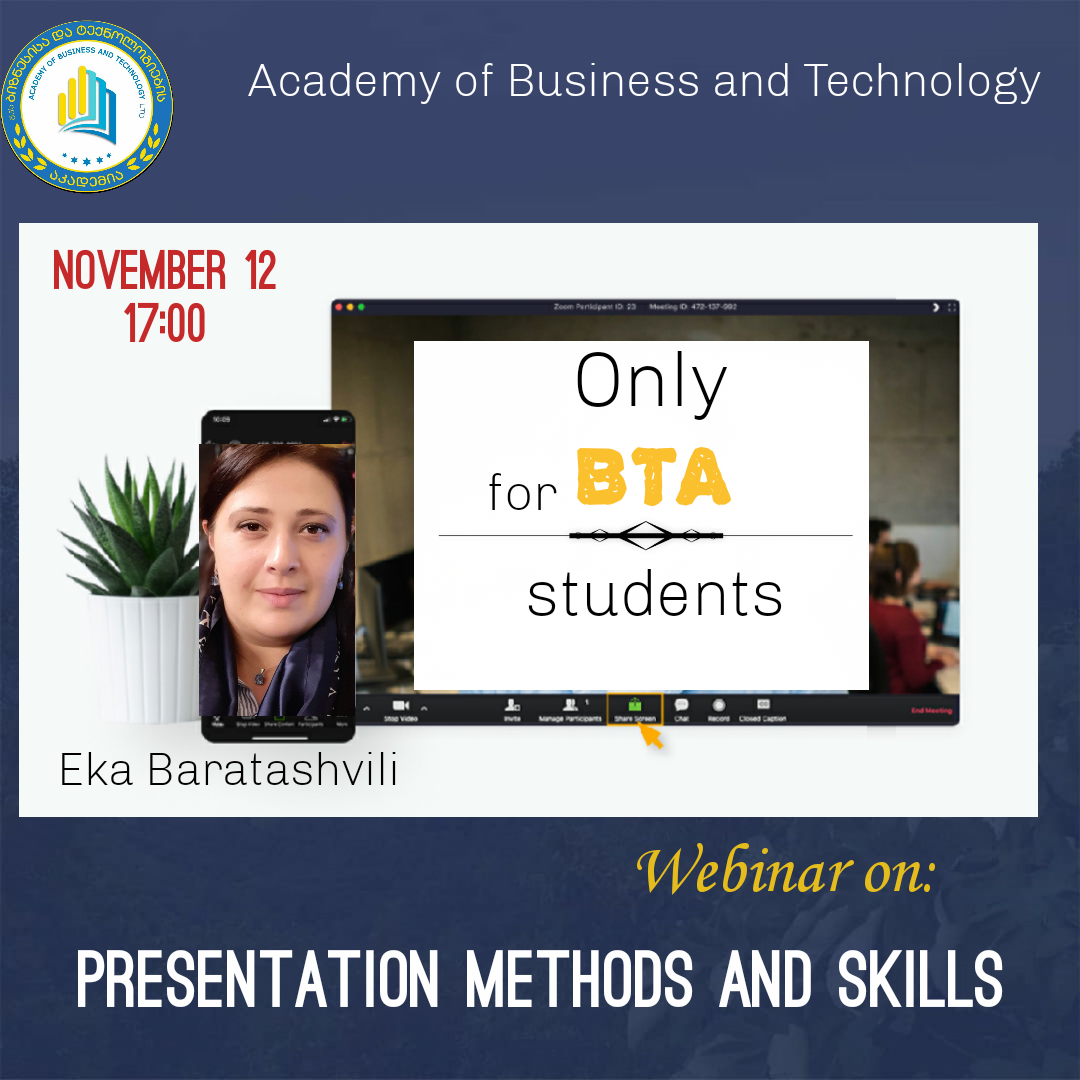 "Webinar on ""Presentation Methods and Skills"""