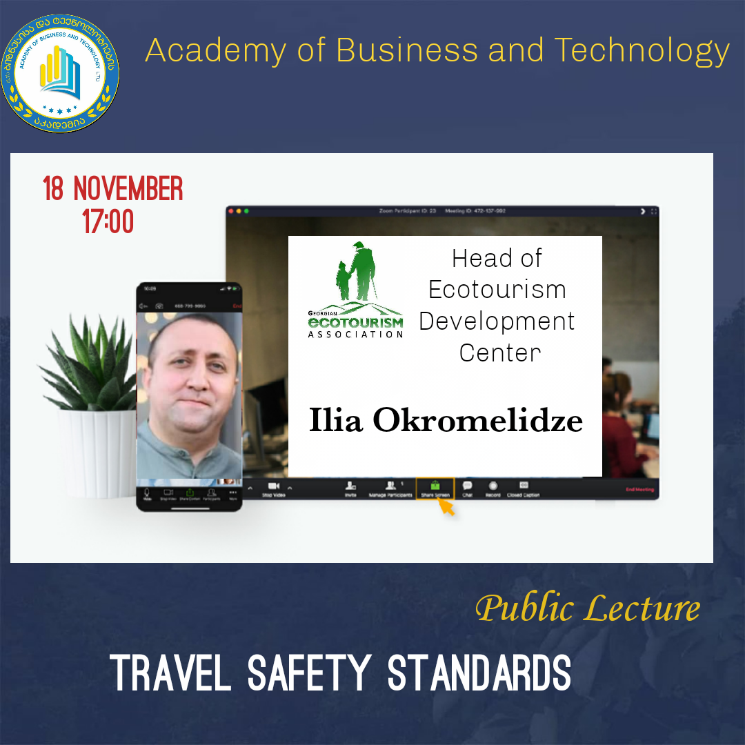 """Public Lecture """"Travel Safety Standards"""""""